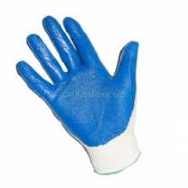 Перчатки нейлон тонкие обливные