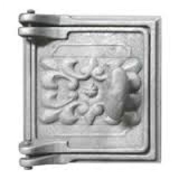 Печное литье дверца ДП-1 (150х160) поддувальная с пыпуклым узором (Балезино)