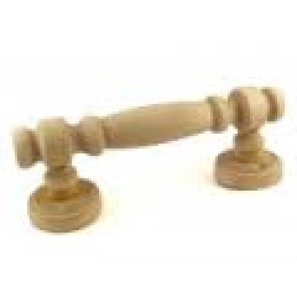 Ручка дверная для бани(сауны) дерево круглая резная