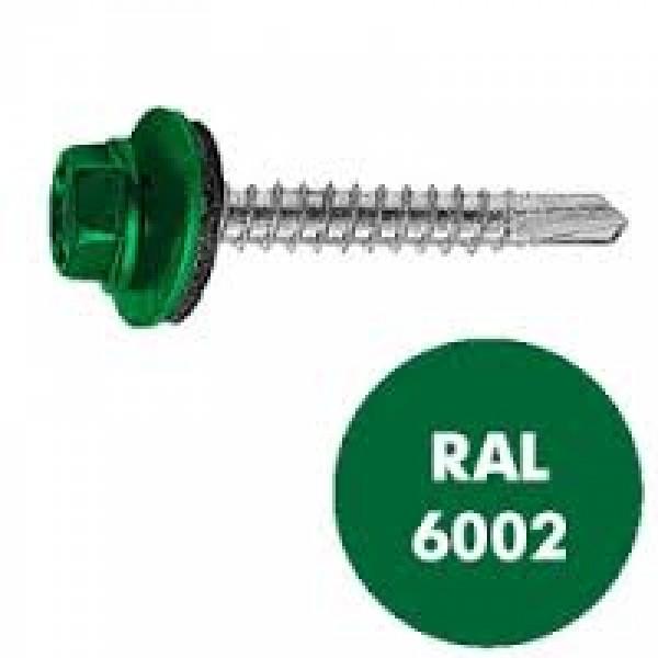 Саморез кровельный RAL-6002 ZP св/зел 4.8*35