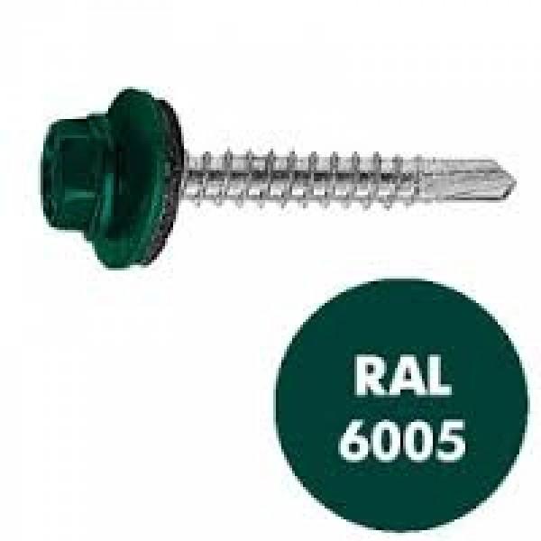Саморез кровельный RAL-6005 ZP зел 4.8*35
