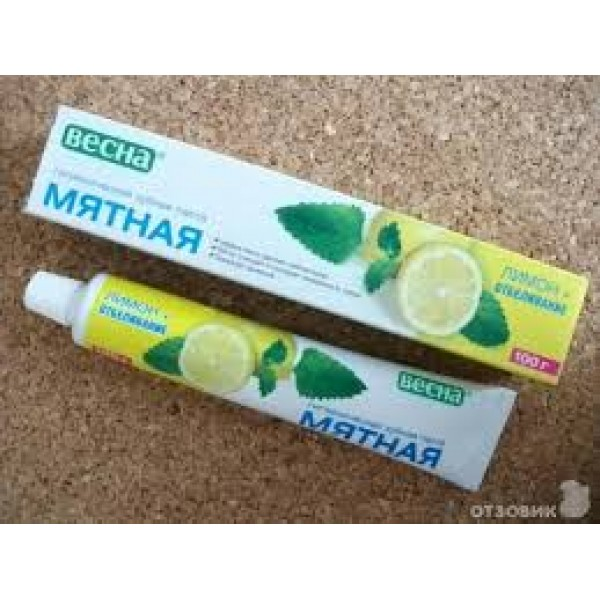 Зубная паста Весна 100 гр Мятная в/ф лимон+отб