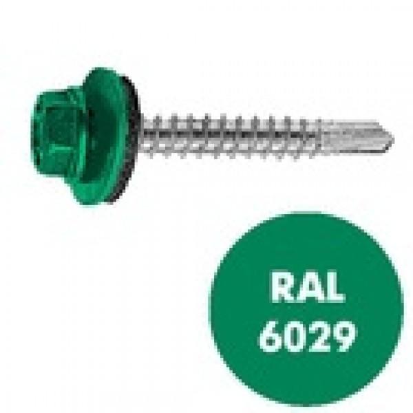 Саморез кровельный RAL-6029 ZP зелен 4,8х35