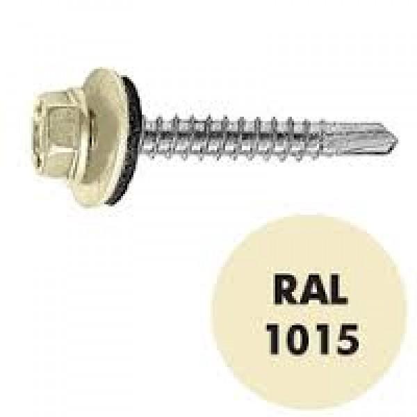 Саморез кровельный RAL-1015 ZP Cлон/ кость 4.8*35