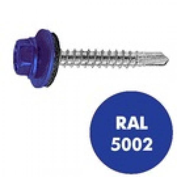 Саморез кровельный RAL-5002 ZP син 5,5*19