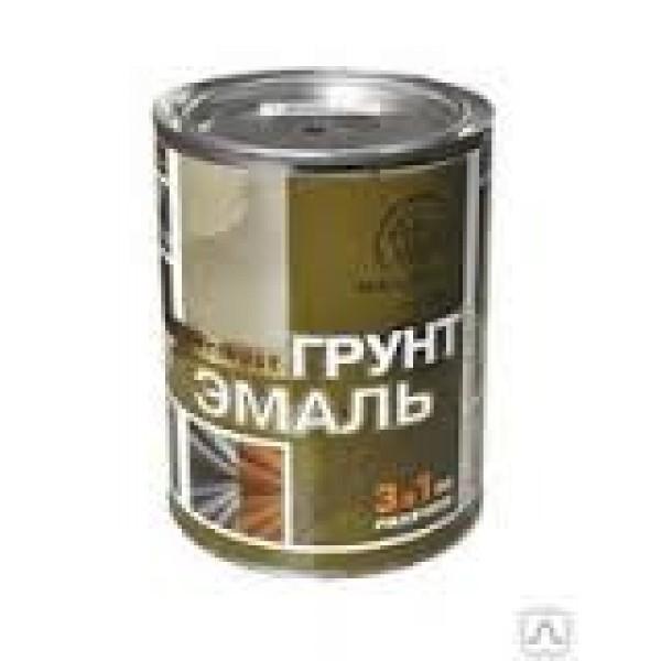 """""""Радуга"""" Грунт-эмаль """"3 в 1"""" красный 0,9л"""