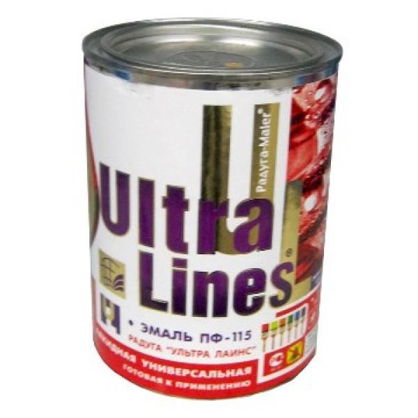 """""""Ultra Lines"""" Краска ПФ-115 Белая 0,9"""