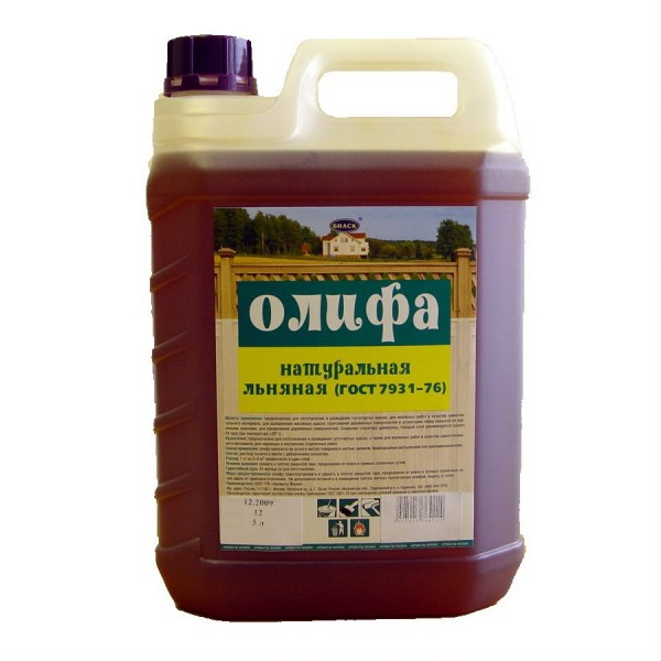 Олифа натуральная 10 л. Оксоль М