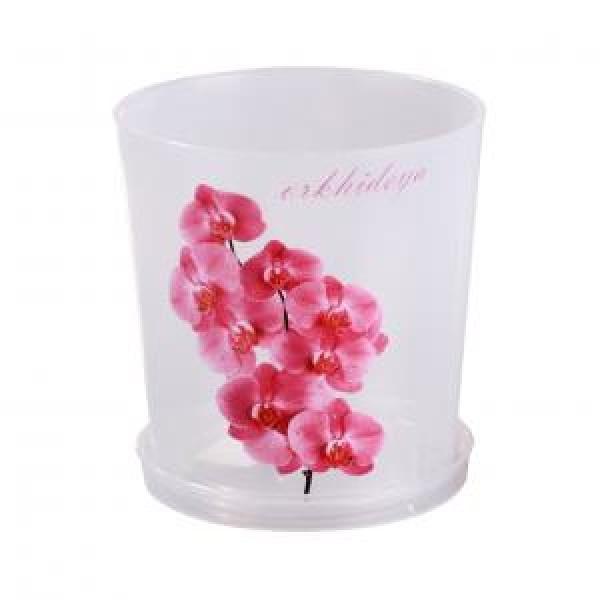 Горшок цв. для орхидеи 1,8 л.с под.(прозрач) М1604