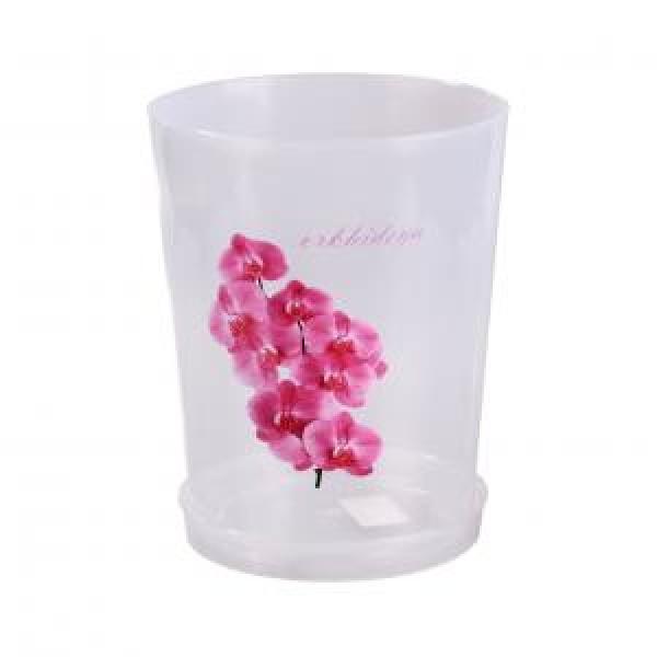 Горшок цв. для орхидеи 3,5 л.с под.(прозрач) М1606
