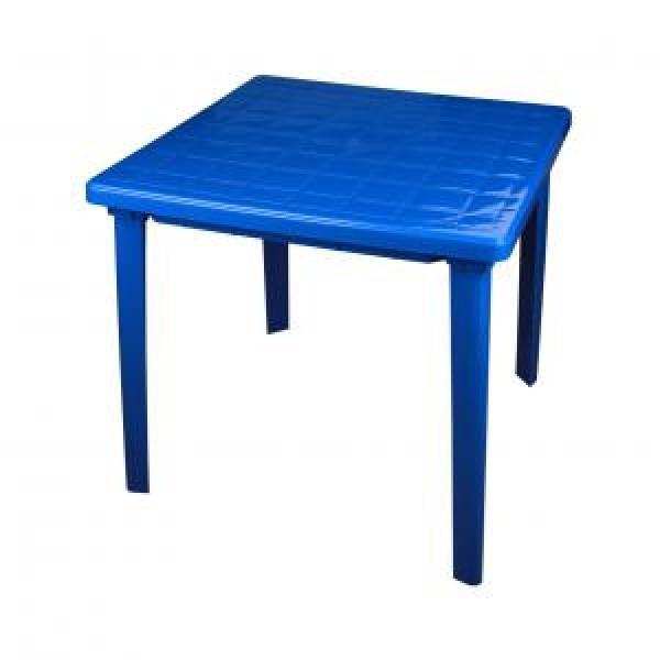 Стол пластмассовый квадратный 800*800*740 синий (Альтернатива) м2594