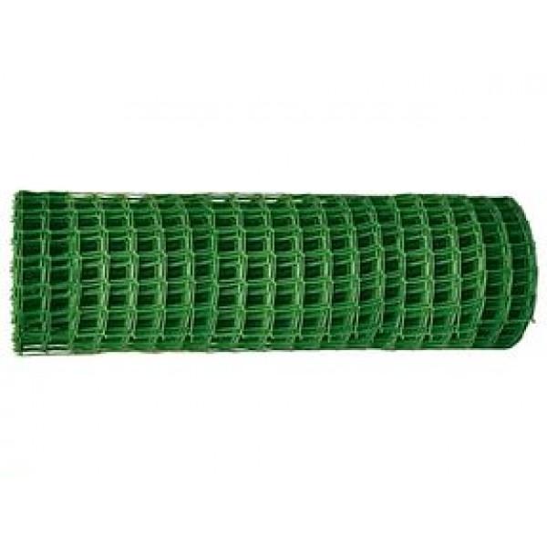 Решетка садовая 40х40мм ПВХ зеленая (1,5х10м)
