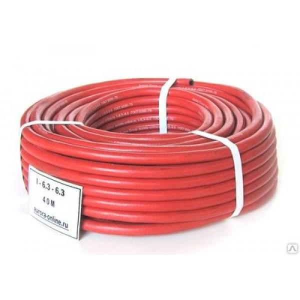 Шланг кислородный d-9мм (красный) пропан.,ацетил.