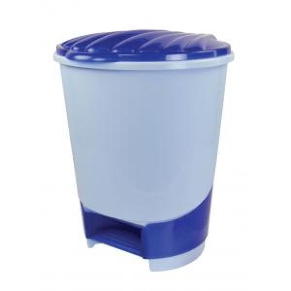 Ведро для мусора с педалью 10л. (голубой) М1380