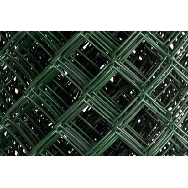 Сетка рабица 50х50х2 1,5метр ПВХ Зеленая