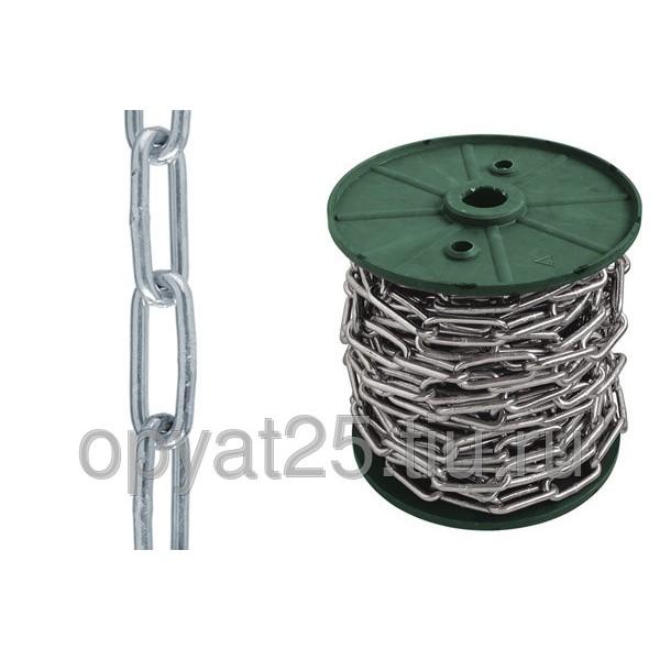 Цепь длиннозвенная сварная цинк DIN 5685/С D2 3мм-60м