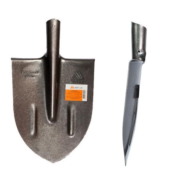 Лопата (МАТИК) (рельсовая сталь) штык остроконечная копальная М2.3