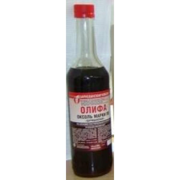 Олифа-Оксоль натуральная подсолнечная (ТРИОЛЬ)  ГОСТ 0,5л (бут.)