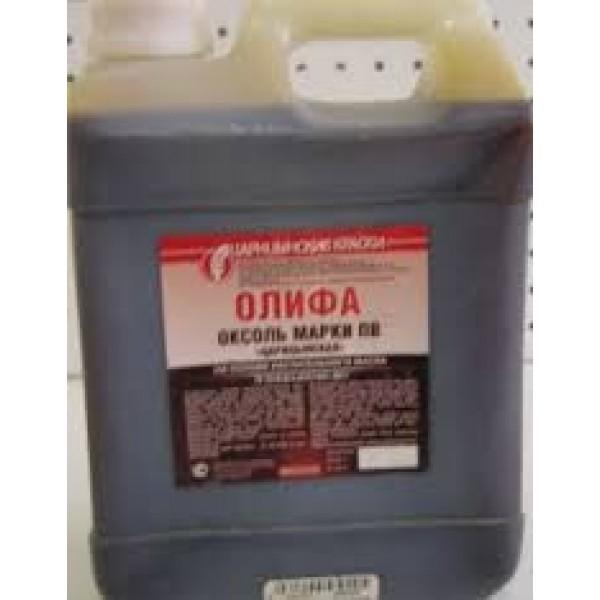 Олифа-Оксоль натуральная подсолнечная (ТРИОЛЬ)  ГОСТ 3л (канистра ПЭ)