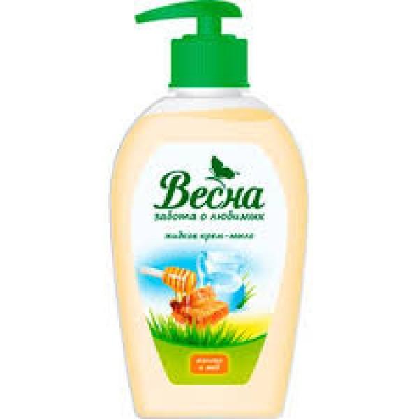 Мыло жидкое Весна 280 гр Молоко и мед (491)