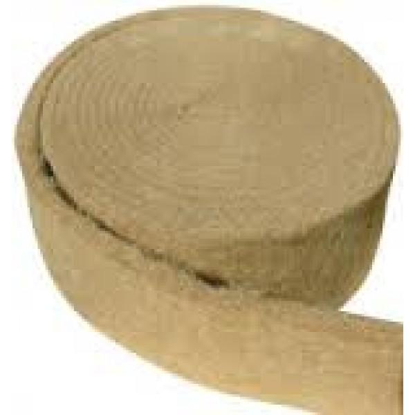 Лента джутовая (пакля) для прокладки между бревен 0,8*100*20м ПРОШИТЫЙ