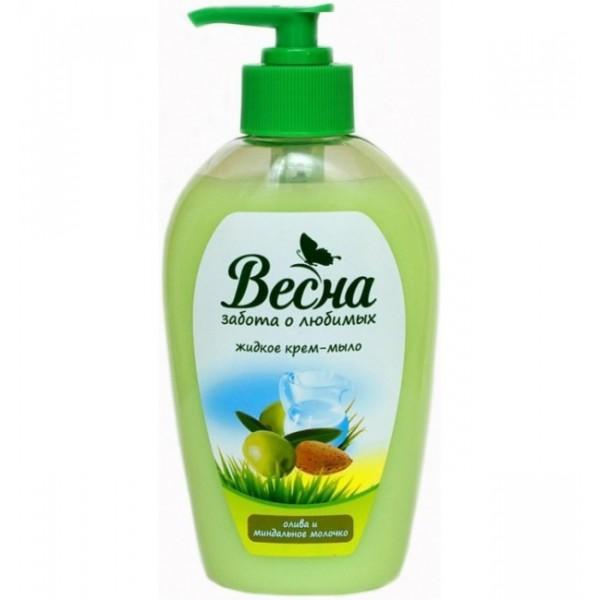 Жидкое мыло Весна  Олива и миндальное молочко