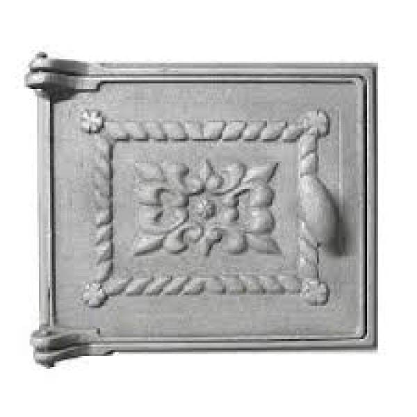 Печное литье дверца ДТ-3 с выпуклым узором (270х230)  (Балезино)
