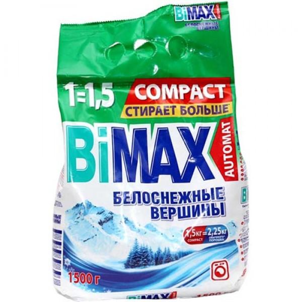 Порошок стир. БиМакс АВТ.1,5 кг Белоснежн.вершины 1*6 (817)
