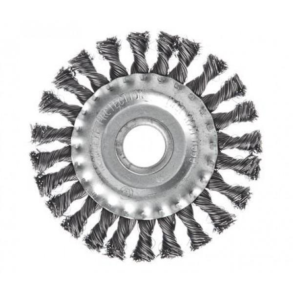 Щетка д/УШМ 175мм плоская кручен. сталь Ермак (052F0241)