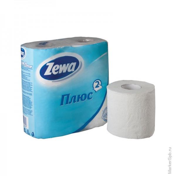 Туалетная бумага Zewa 4шт БЕЛАЯ