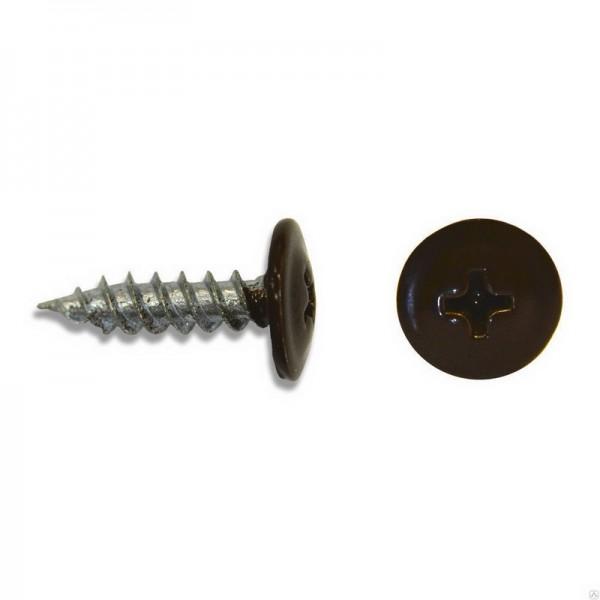 Саморез прессшайба без сверла 4,2/25 RAL-8017 Шоколадно-коричневый ВЕСОВЫЕ