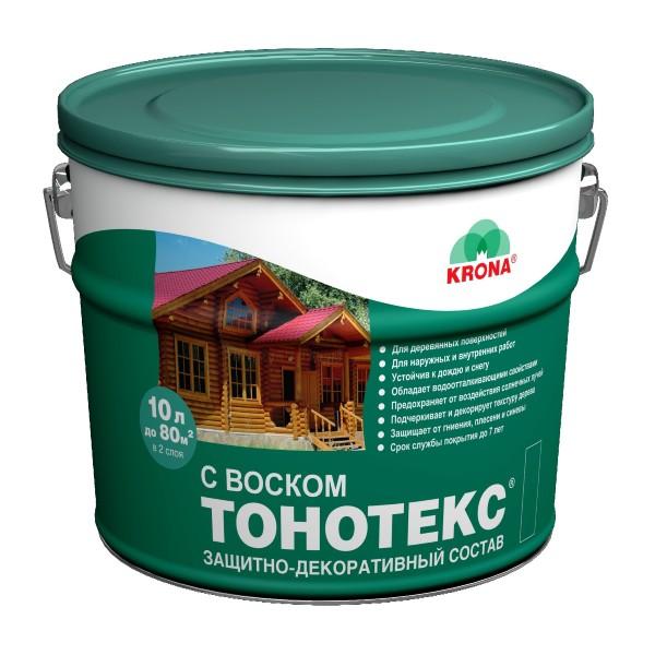 Пропитка ТОНОТЕКС с воском KRONA 3л ОРЕГОН