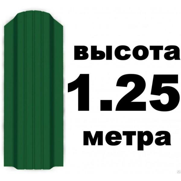 Евроштакетник 6005 Мох 7см (1,25м)