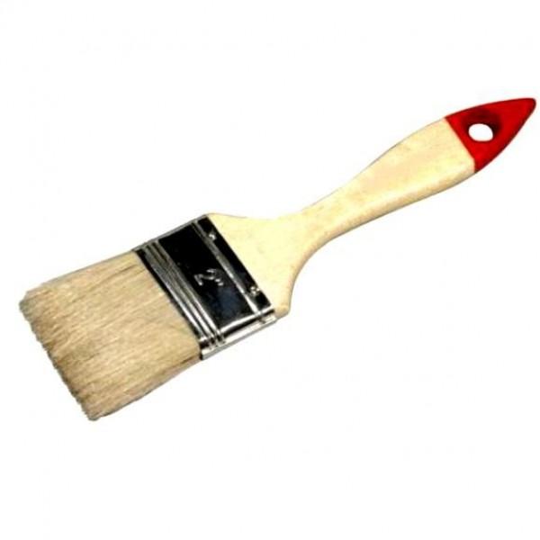 """Кисть """" 3"""" плоская 75мм натур. щетина, дерев. ручка"""