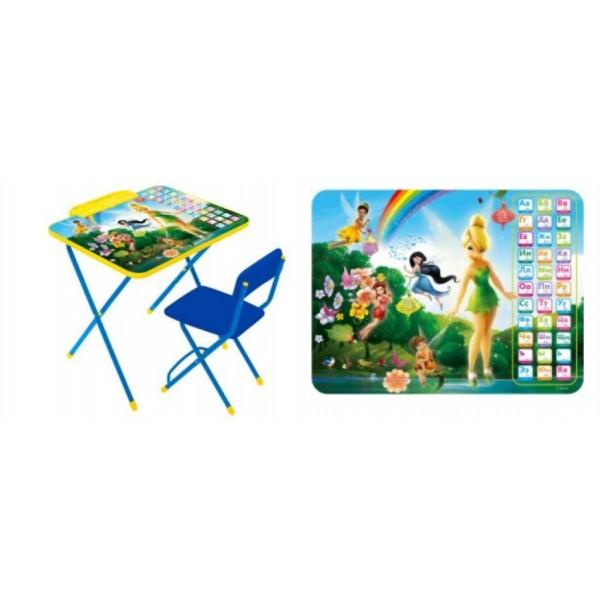 Стол + стул с мягк. сиденьем Дисней 2-Феи Азбука (детский комплект) Д2Ф1