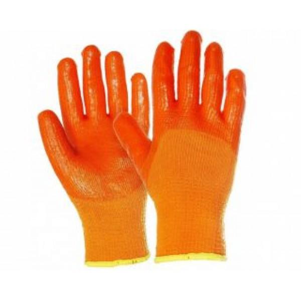Перчатки Утепленые прорезиненные CLICK 2000 оранж.