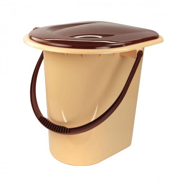 Ведро - туалет 17л коричневое (Альтернатива) м1319