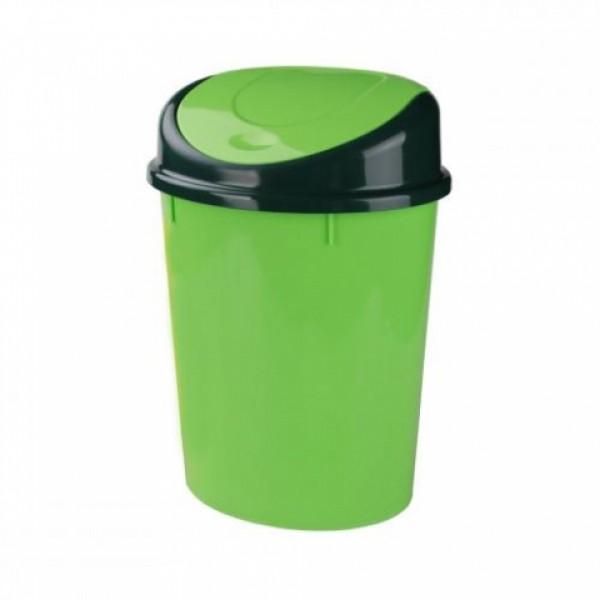 Контейнер для мусора 8л (овальный)(зелёный)(уп.5) м1378
