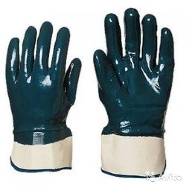 Перчатки х/б прорезин.кислостойкие (синие) ЛЕТО