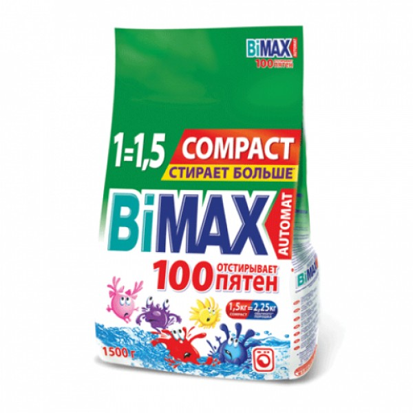 Порошок стир. BiMAX Автомат 100пятен 1,5кг