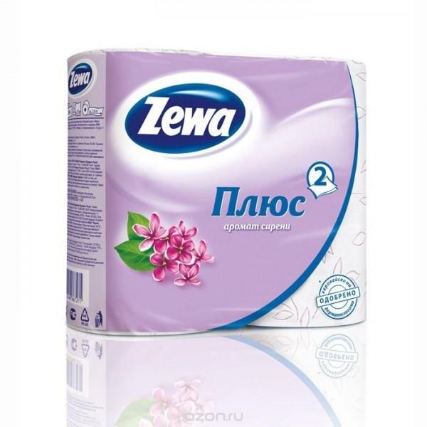 Туалеткая бумага Zewa 4рулона 2-х слойная Сирень