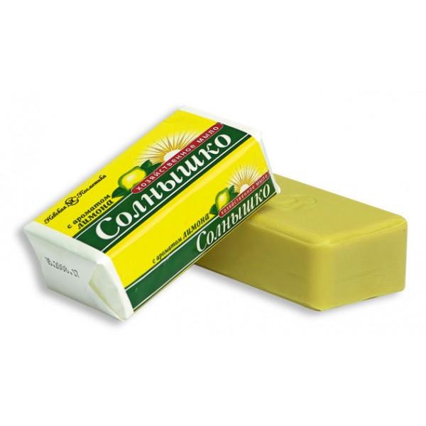Хозяйственное мыло СОЛНЫШКО ромашка лимон 140гр