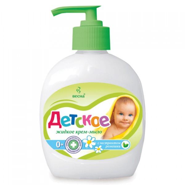 Жидкое Крем - мыло Деткое 0+