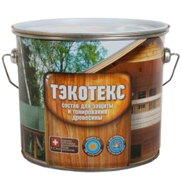 Состав ТЭКОТЭКС для защиты и тонирования древесины  бесцветный 7,6л