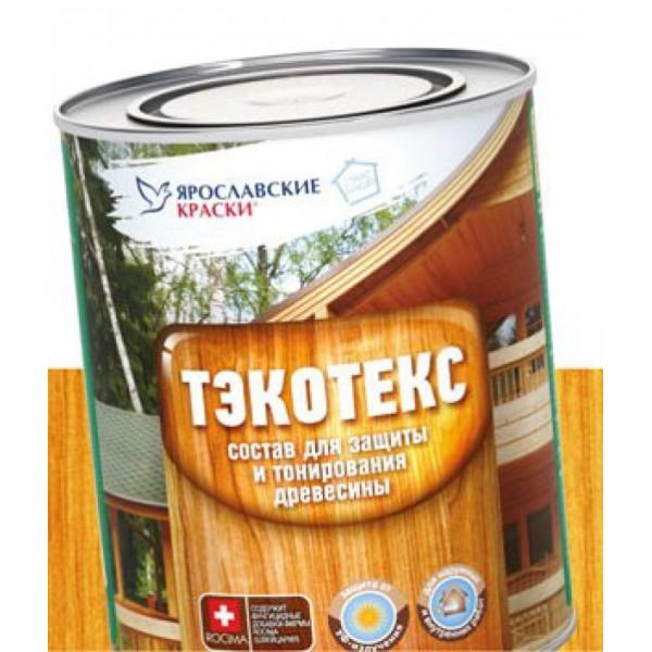 Состав ТЭКОТЭКС для защиты и тонирования древесины  золотой дуб 2,1л