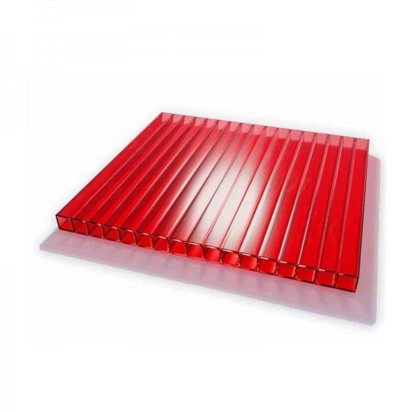 Поликарбонат красный 6000х2100 4мм