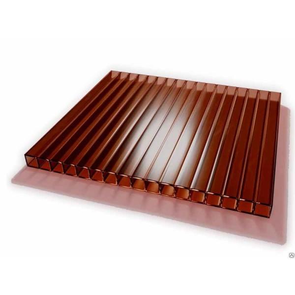 Поликарбонат коричневый (терракотовый) 6000х2100 4мм