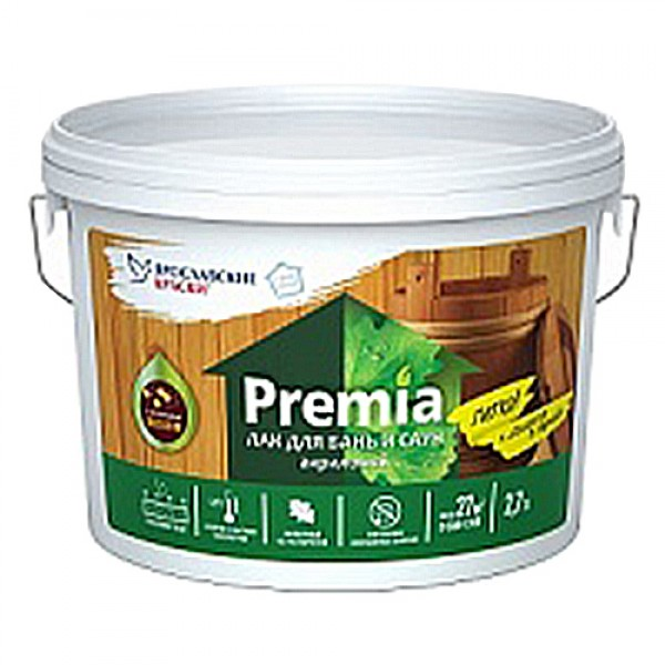 Лак паркетный PREMIA уретан-алкидный глянц. 2,4кг