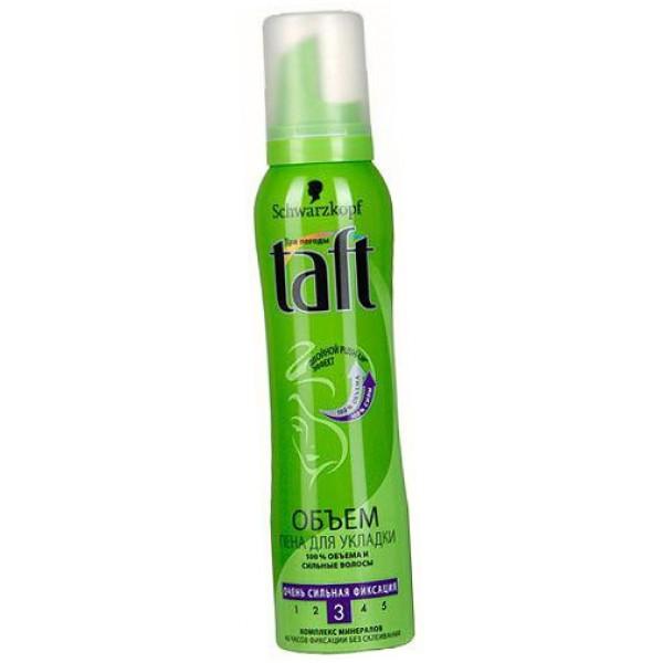 Пена для укладки волос Тафт 150мл фикс 3