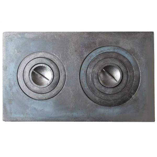 Печное литье плита 2 конфорки П-2-5 (760х435) большая (Балезино)